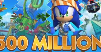 Sonic Dash Hits 500 Million Downloads